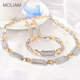 MOLIAM  Bridal Wedding Jewelry Sets for Women Cubic Zirconia Bracelet Earings and Necklace Set 2018 New Arrival MLT803 от