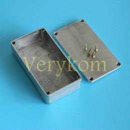 Wholesale enclosure pedal - 20X 1590B 1590BB Style Guitar Effects Aluminium Stomp Box With 4 Steel Screws Guitar Pedal Enclosure 112*60*31 120*95*35