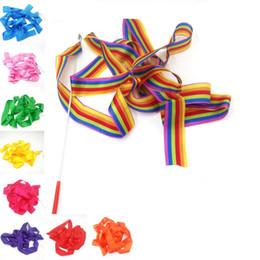Dance Ribbon 4M Gym Dance Ribbon Ritmica Art Gymnastic Streamer Baton Twirling Rod Colore della miscela Attrezzature per il fitness da regali ginnastici fornitori