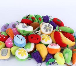 Canada Cadeau Pendentif Jouets variété de Fruits Légumes Poupées Pomme Banane Orange En Peluche Pendentif De Mariage Lancer L'événement Cadeaux 5-10 cm Mixte en gros Offre