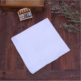 2019 legno di spilla all'ingrosso Shipiing libero 100 pz / lotto Nuovo 100% cotone maschio tavolo raso fazzoletto rimorchiatori fazzoletto quadrato più bianco 37 cm 2018 hot