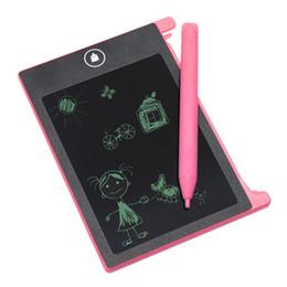 Kinder malereien online-4,4 Zoll LCD Schreibtafel Bord Handschrift Pads Für Kinder Kinder Zeichnung Kinder Geschenk Malerei Lehrmittel