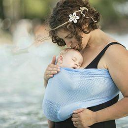 Mochilas portabebés online-60pcs Newborn Water Sling Kids Lactancia materna Hipseat Parenting Bebé Elástico Wrap Carrier Mochilas Infantiles Cochecitos Gallus MMA239