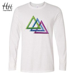 Wholesale big bang theory sheldon t shirt - HanHent The Big Bang Theory Sheldon Payne Lodz triangle T-shirt Impossible triangle Long Sleeve T Shirt Streetwear Fitness Tees