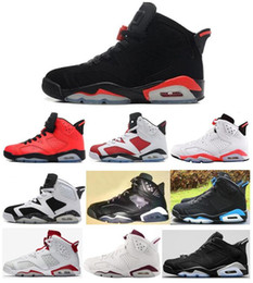 Wholesale low basketball shoes - High Quality 6 6s Infrared Carmine Basketball Shoes Men 6s UNC Toro Hare Oreo Maroon Low Chrome Sport Blue Sneakers With Shoes Box
