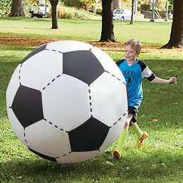 Wholesale Giant Outdoor - 75cm Beach Ball Inflatable Giant Football Soccer Volleyball Children Outdoor Sports Island Water Toys Adult Garden Party Supply