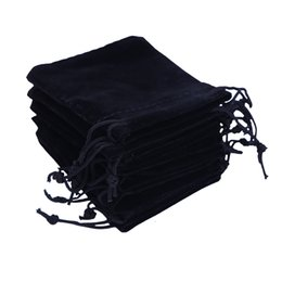 Wholesale Wholesale Small Velvet Bags - Gift Bags 6x7cm Candy Bags Drawstring Wedding Favor Cheap Jewelry Pouch Small Velvet Jewelry Bag Christmas Gift Packaging Pouche