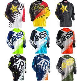 camiseta de carreras de motocross Rebajas 15 colores jerseys de Moto nuevo Rockstar Jersey respirable Motocross Racing Downhill Off-Road Mountain Motorcycle camisa sudadera camiseta