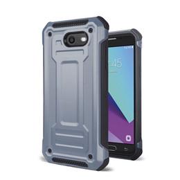Американская броня онлайн-Защитник броня Case для Samsung Galaxy J3 2017 J7 2017 американская версия J3 премьер Galaxy J4 J6 2018 ЕС двойной слой противоударный Case