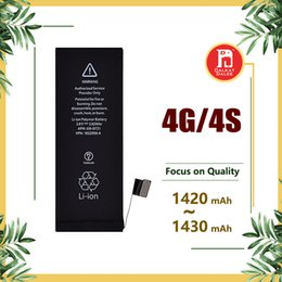 Wholesale Fast Safe - For iPhone Battery Replacement iphone 4 4s 4G with Good Flex and Safe Package Brand New 0 Cycle 1420mah 1430mah Fast Free Shipping