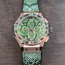 montre de chronographe de luxe Lady montres à quartz de mode Snakeskin Watch Ceinture en caoutchouc Sports style multi-fonction Diamond H B montre-bracelet ? partir de fabricateur