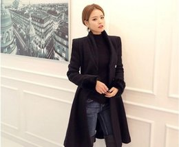 Wholesale Trench Coat Korean Style Wool - Autumn and winter Korean version of the new A long paragraph woolen trench coat women small hair style waist coat wool
