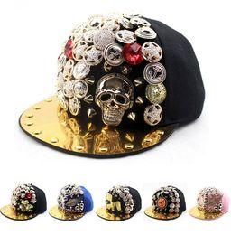 a832d0cfdb6 Discount cap spikes - Kids Snapback Caps Children Punk Caps Adjustable  Girls Boys Gold Spikes Hiphop
