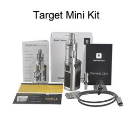 Kit mini vtc online-Top Quality Vaporesso TARGET VTC 75W Starter Kit con scatola di controllo della temperatura del serbatoio in ceramica Mod Contenitore di regalo VS Kanger Topbox mini
