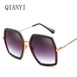 Wholesale Mirror Crystals - Fashion Square Sun Glasses Brand Designer Ladies Oversized Crystal Sunglasses Women Big Frame Mirror Sun Glasses For Female UV400