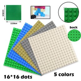 16x16 bolinhas 12.8 * 12.8 cm blocos de construção placa de placa de base pequena partícula montada puzzle placa de base diy brinquedos pequeno bloco de