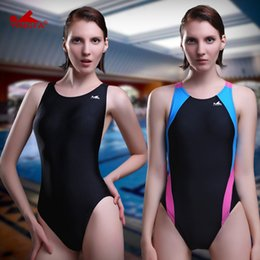 Wholesale Tights Leotards - Yingfa Professional Swimsuit Women Swimwear Sports Racing Competition Sexy Leotard Tight Lady Bodybuilding Bathing Suit XXXL