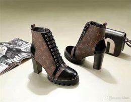 tubo del cordón de los hombres Rebajas Las mejores botas de diseñador de lujo Mujer Desert Boot tacón grueso Martin zapatos Imprimir Plataforma de cuero Desert Lace-up Boot 5cm 12 colores con caja