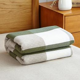 Hilo de algodón 100% de punto Manta de tela escocesa verde azul rosa en la cama para la manta suave de sábana de tamaño completo en venta al por mayor desde fabricantes