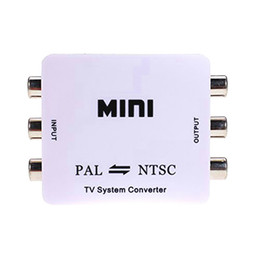 Wholesale pal tv converter - 30set lot Mini HD PAL NTSC Mutual Conversion TV System Converter Adapter for Single-format Video Equipment