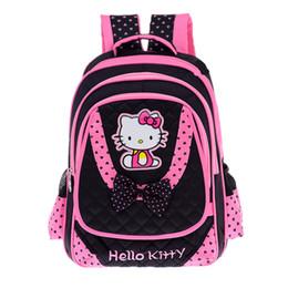 Sacchetti da scuola per ragazze online-FZMBAI Borse scuola per bambine Hello Kitty Zaini principessa e traspirante Satchel Zaini primarie Escolar