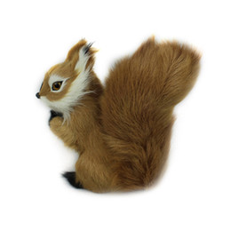 Wholesale Wholesale Teddy Bear Decorations - 8*7cm Stuffed Toys Simulation Animal Stuffed Plush Lovely Squirrel Toy Kids Toy Decorations Birthday Gift For Children