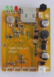 Wholesale dvr board module - Single channel coaxial HD 1080P video board AHD TVI Mini DVR board TF Card 1080P video module GPS
