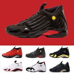 Wholesale 14 days - New 14 14s Last shot black red Black Toe DMP Oxidized Thunder Men Basketball Shoes Athletic Sport Sneaker