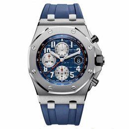 royal offshore UK - Luxury Brand Royal Oak Offshore Series Men Watches Montre Homme All Subdials Work Swiss Quartz Watch Men Reloj Hombre Chronograph Male Clock