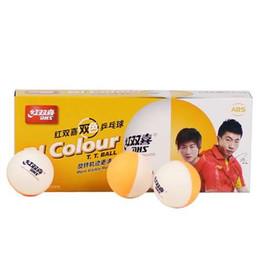 Wholesale dhs tennis balls - 20 Balls DHS BI Colour (2018 New) Table Tennis Balls (Double Color, Seamed ABS 40+ Balls) Plastic Poly Ping Pong Balls