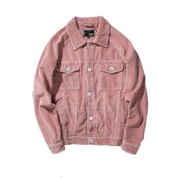 Wholesale Mens Corduroy Jacket Xl - New 2017 High Quality Solid Corduroy Casual Slim Mens Jacket Bomber Jacket Men's Outerwear Cotton