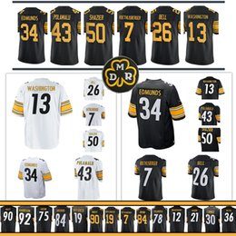 Wholesale bell shorts - Pittsburgh Steeler Le'Veon Bell 22 Terrell Edmunds Le'Veon Bell T.J. Watt Ben Roethlisberger 50 Ryan Shazier Antonio Brown