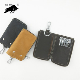 Wholesale Toyota Camry Key Fob Cover - Leather Key Fob Cover Case For 2016 Toyota Kijang Innova Fortuner SW4 2017 Accessories Camry Corolla Cruiser Prado Key Holder Chain Bag