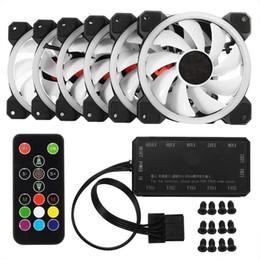 Amzdeal 16LED Ventilador silencioso para computadora Control del radiador Control remoto Control del ventilador Creative 12 cm Soporte de enfriamiento desde fabricantes