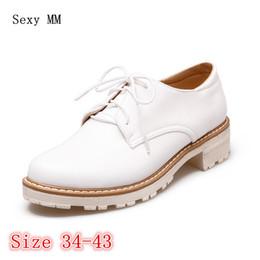 52e041152930f Lace Up Campus Étudiant Chaussures Femmes Richelieus Chaussures Mocassins  Appartements Femme Casual Plat Haute Qualité Plus La Taille 34 - 40 41 42  43 ...