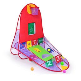Juego gratis para niños online-Tienda de juguete Tres en uno Niños Disparando Rompecabezas Juguetes Juegos de interior y al aire libre Carpas Regalo gratis de Ocean Ball Portátil 40kr W