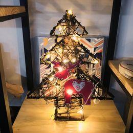 Canada Pendentif d'ornement d'arbre de Noël tissé en rotin vintage de Noël avec un paquet de 20 lampes à fil de cuivre avec bouton de lampe sans électron supplier pendant light wiring Offre