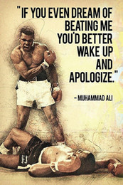 Wholesale arts quotes - Muhammad Ali Quotes If You Even Dream Of Beating Me Art Canvas Poster Modern HD Print Oil Painting Wall Art Painting