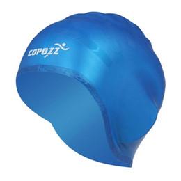 Wholesale Silicone Swim Caps Wholesale - Copozz Professional Ear Protection Swimming Cap Blue