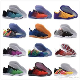 buy online aff6e 344ac High Quality Kobe 11th Generation Knit Elite Basketball Shoes Men Kobe 11  Red Horse Monkey KB 11 Sports Basketball Shoes 40-46