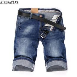 Wholesale men s jeans bermuda - Airgracias 2018 Summer New Denim Shorts Men 'S Jeans Short Men High Quality Cotton Men Bermuda Straight Jean 32 33 34 36 38 40