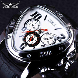 Wholesale Jaragar Luxury Auto Mechanical Watches - JARAGAR Top Luxury Brand Mens Watches Men Triangle Shape Automatic Mechanical Watches Auto Date Wristwatch Relogio Masculino SLZa46