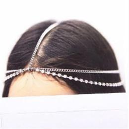Moda Boho Mulheres De Metal De Prata De Ouro Multilayer Cabeça Headband Headband Headpiece Nupcial Do Casamento Penteado Acessórios Para o Cabelo de Fornecedores de capas de fone de ouvido de silicone