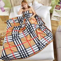 Wholesale Luxury Fabric Sofas - [Luxury brand]2018 Fashion Coral fleece blanket sofa blankets Travel Camping Towels bed sheet Quality assurance welcome wholesale