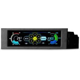 """Monitores cool on-line-5.25 """"5 Canal de Tela Sensível Ao Toque Ventilador Controlador de Temperatura Automático Controle de Velocidade Cooler Painel Frontal LCD"""