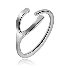 Wholesale Indian Fashion Wear - Simple New Fashion Rings Easy Wear Open Adjustable Ring Eco-Friendly Copper Plated Platinum For Woman A00299