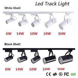Focos angulares led on-line-DHL CE ROHS UL Pista Levou Luz 6 W 10 W 14 W 24 W 36 W 120 ângulo de Feixe de Led de Teto Holofote AC 85-265 V conduziu a iluminação local