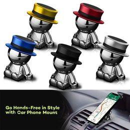 Wholesale magnetic vehicles - Magnet Phone Holder UFO Villain Hat Magnetic Stent Navigation Vehicle