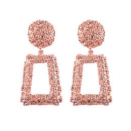 Wholesale Diseñador Pendientes Joyas de Metal Colores Pendientes Mujer Lujo Maxi Hilo de Seda Bohemio Rojo Geometría Pendientes Grandes Para Las Mujeres Regalo de la joyería
