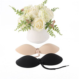 ca6fb03783 Women Invisible Bra Nubra Butterfly Wing Invisible Bras Push-up Self  Adhesive Strapless Bandage Backless women s underwear 2 Color DH087
